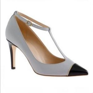 J. Crew Collection Everly Cap Toe T-Strap Pumps